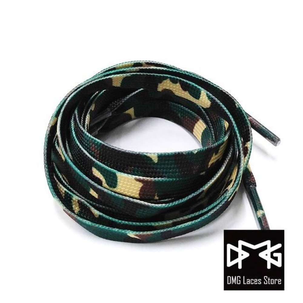 Flat Laces ( Earth Camo )