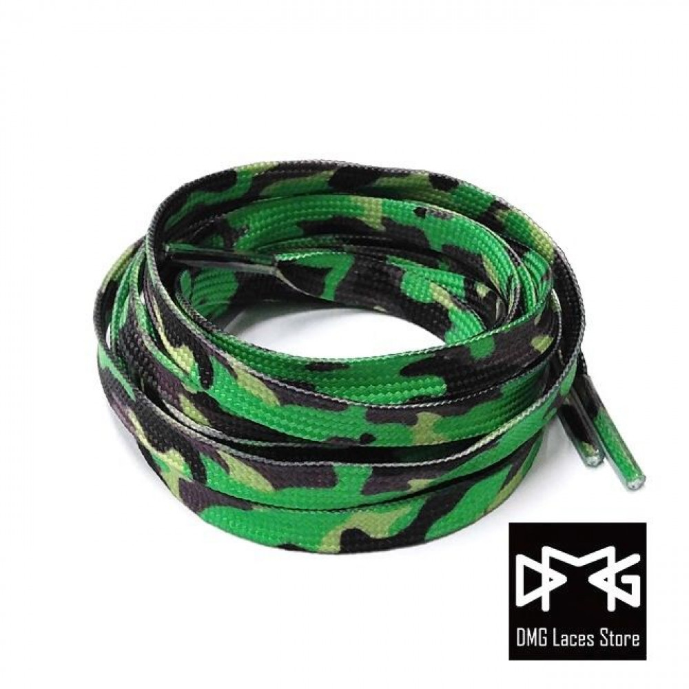 Flat Laces ( Forest Camo )