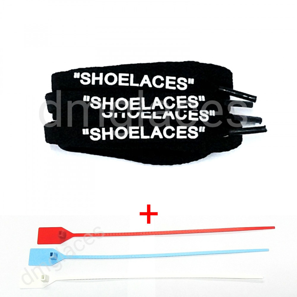 """Shoelaces"" Flat Laces + Zip Tie"