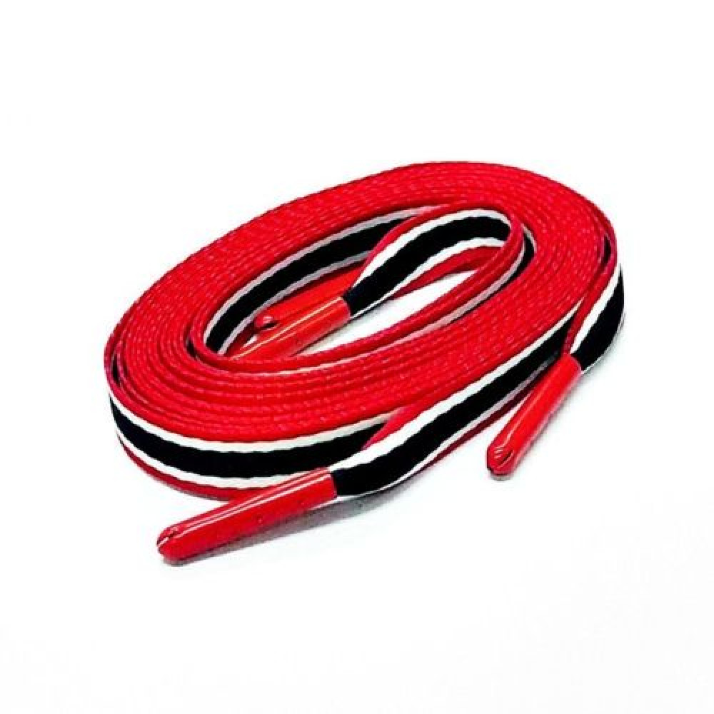c11a748ac7 Flat Laces ( Red / Navy / White Stripe )