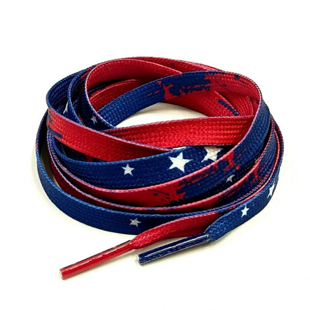 Flat Laces ( USA Flag )