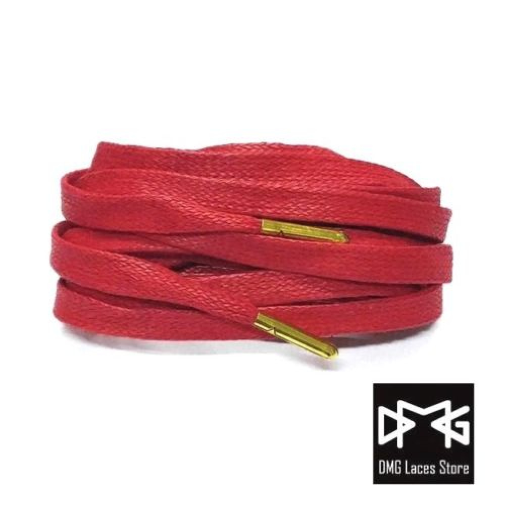 Wax Flat Laces ( Red )