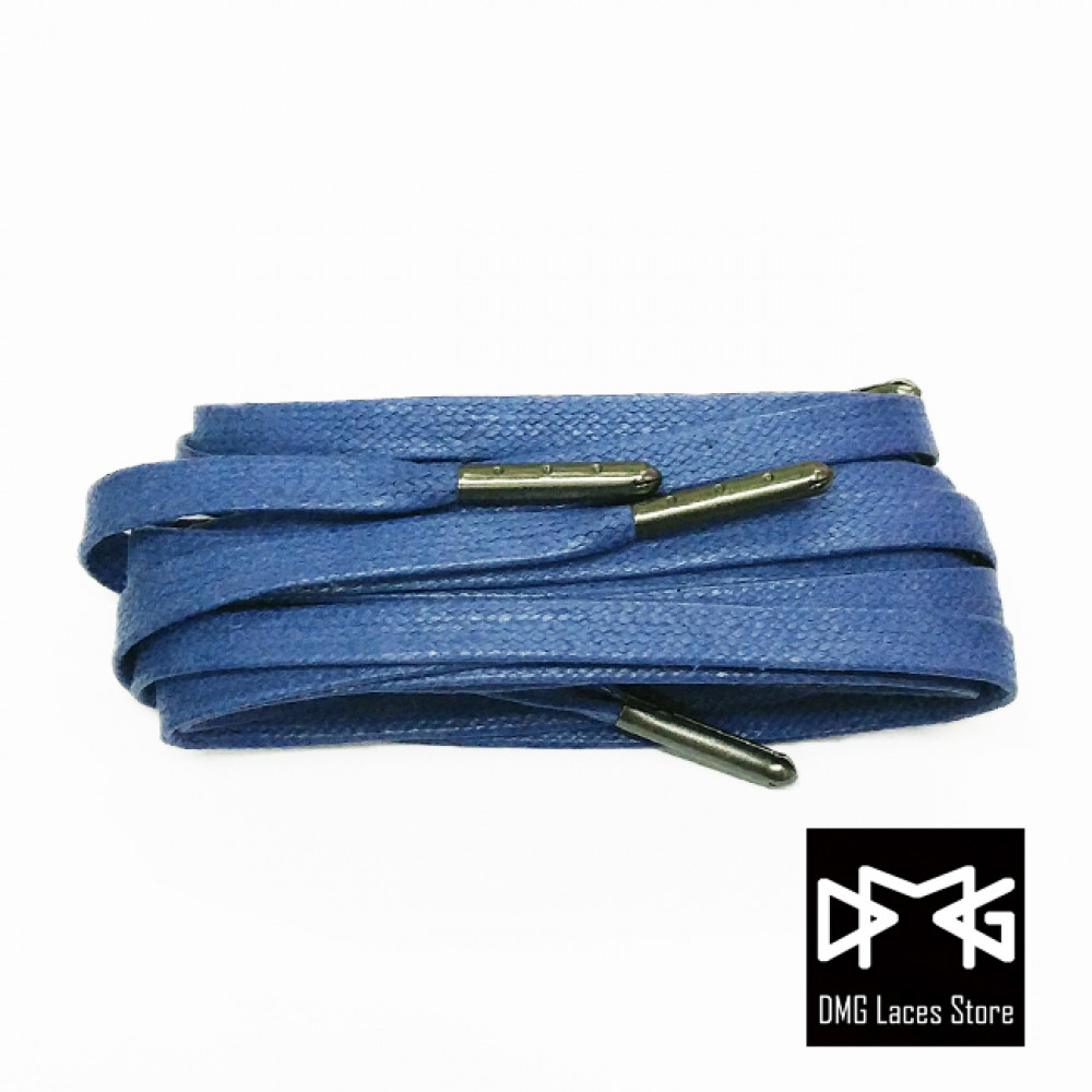 Wax Flat Laces ( Navy Blue )