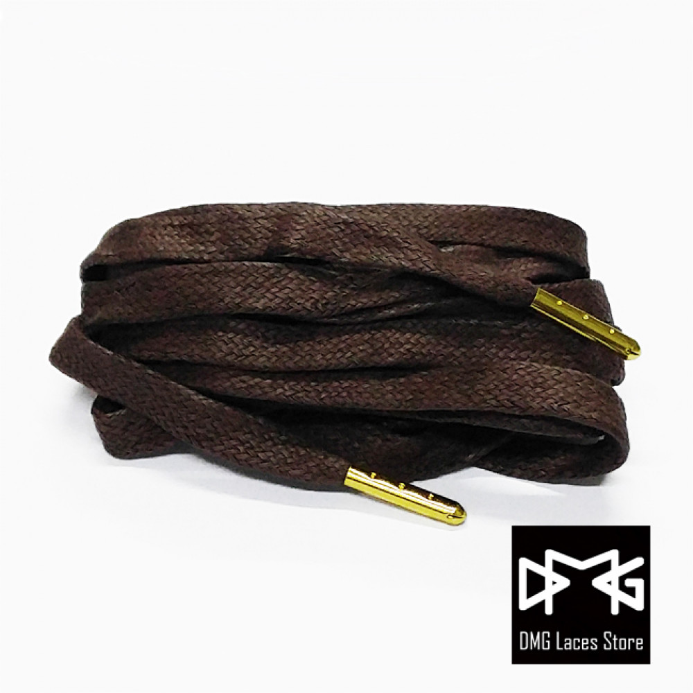 Wax Flat Laces ( Brown )